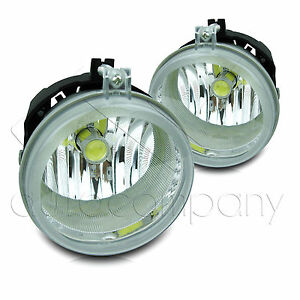 Details About 07 09 Jeep Patriot Replacement Fog Lights W High Power Cob Led Projector Bulbs