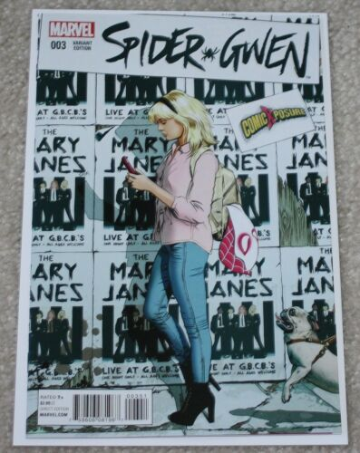 SPIDER-GWEN 3 MIKE MAYHEW EXCLUSIVE COMICXPOSURE VARIANT SPIDER-MAN NM HOT 1 2 4