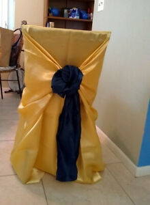 Chair Sashes Navy Satin Ebay