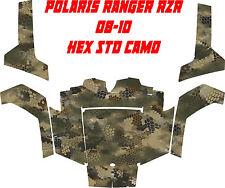 Polaris Utv ranger rzr 08-10 side by side HEX STD camo Wrap Decal Sticker kit