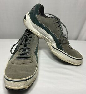 Piloti-Speedway-Gray-Green-Suede-Driving-Shoes-Lace-Up-Men-039-s-Size-12