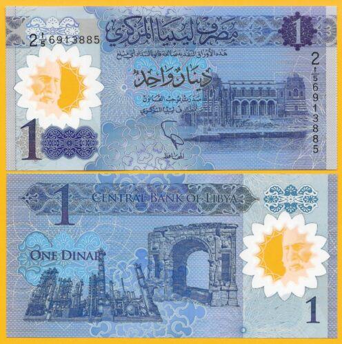 Libya 1 Dinar p-new 2019 Commemorative UNC Polymer Banknote