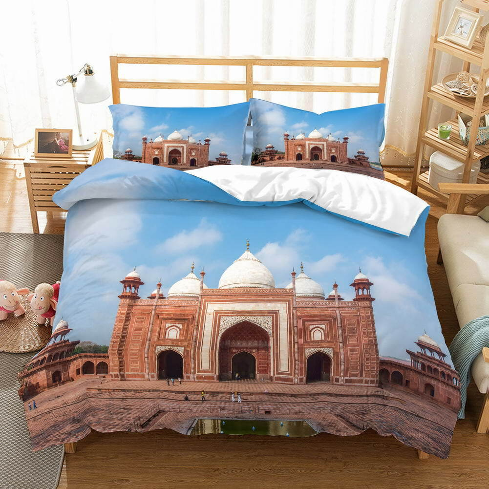 Street Nice Palace 3D Quilt Duvet Doona Cover Set Single Double Queen King Print