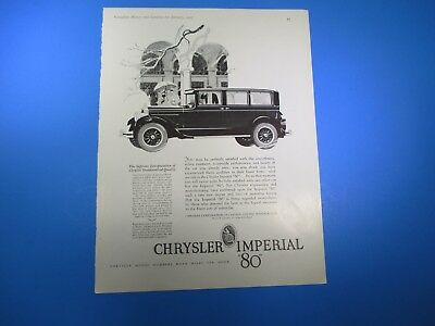 """Imported From Abroad Vintage January 1927 Chrysler Imperial """"80"""" B&w Print Advertising Pa21 Do You Want To Buy Some Chinese Native Produce? Advertising"""
