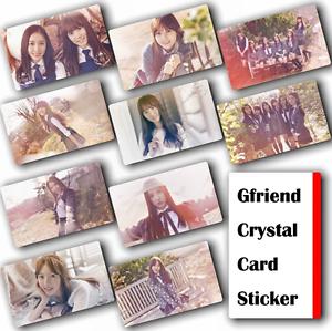 10Pcs-Set-Kpop-GFRIEND-HD-Waterproof-Lustre-Photo-card-Crystal-Card-Sticker