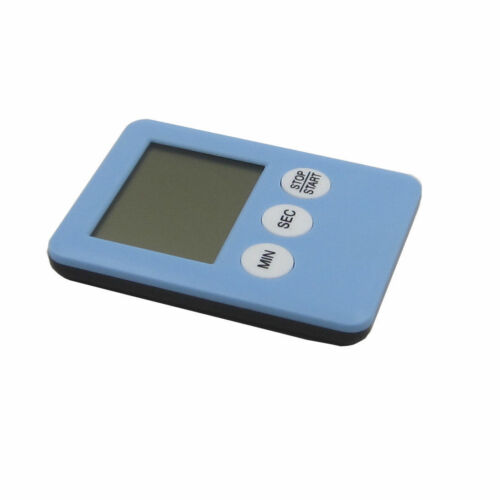 Blue LED Digital Kitchen Timer Countdown Alarm Clock Magnetic-NO BATTERY