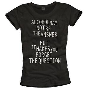 Details Zu Lustige Witzige Sprüche Shirts Coole Damen Tops Alkohol Party T Shirt Schwarz