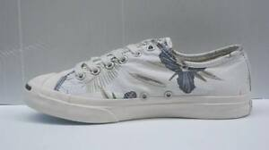 008 CONVERSE SCARPE UOMO JACK PURCELL CANVAS GREY FLOWERS 136670C