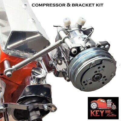 Chevy 508 V Belt A//C Air Conditioning Compressor /& Driver Side Bracket SBC LWP
