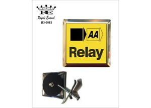ROYALE STAINLESS CAR GRILL BADGE - AA RELAY THE AUTOMOBILE ASSOCIATION - B3.0083