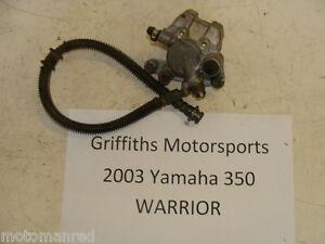 00 01 02 03 04 Yamaha Warrior YFM 350 Anteriore SX Pinza Freno Linea Pastiglie