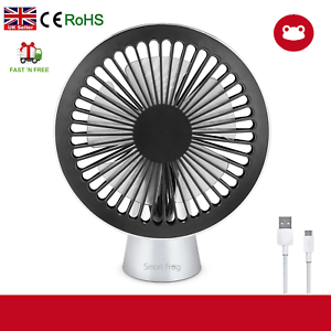 USB Desk Fan Mini Quiet Personal Cooler USB Powered Portable Table Fan UK