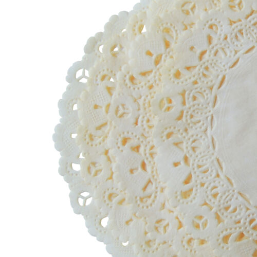 "4/"" 6/"" 8/"" 10/"" 12/"" 14 Ivory Colored Doily IVORY Off White PAPER Lace DOILIES"