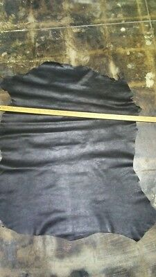 1 oz Italian Top quality Lambskin leather hide Antique Black Thin 6 Sq.Ft