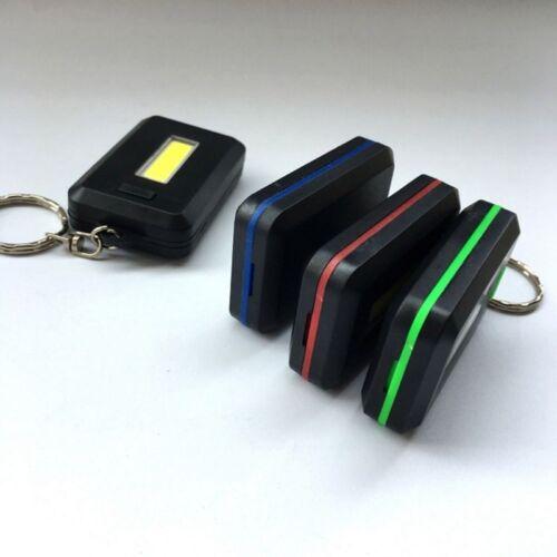 Mini Tragbare 3 Modi Tasche COB Worklight Licht LED Taschenlampe Schlüssel xk