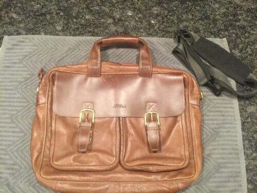 LL Bean Briefcase Soft Brown Leather LL Bean Brief
