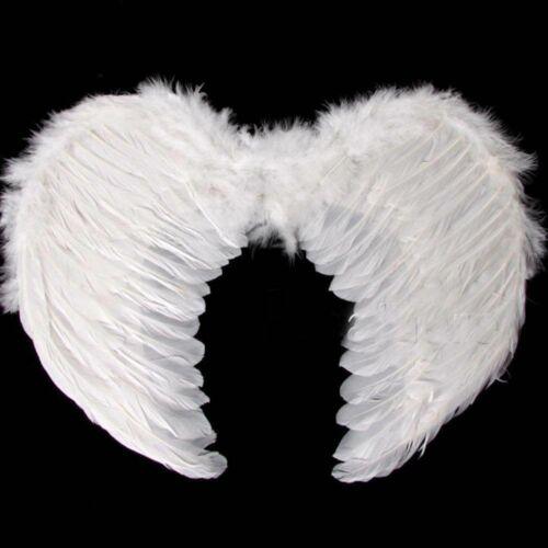 Plume blanche ailes d/'ange Noël Halloween Fancy Dress Costume d/'oiseau poule nuit