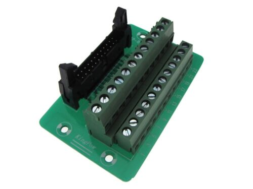 IDC24 24-Pin Connector Signals Breakout Board Screw terminals Din