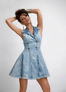 By-Alina-Mexton-Damen-Jeanskleid-Jeans-Minikleid-Blazer-Kleid-Tunika-XS-34