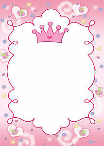 Image Is Loading 30 Princess Blank Cards For Invitation Thank You