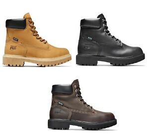 leather work boots steel toe