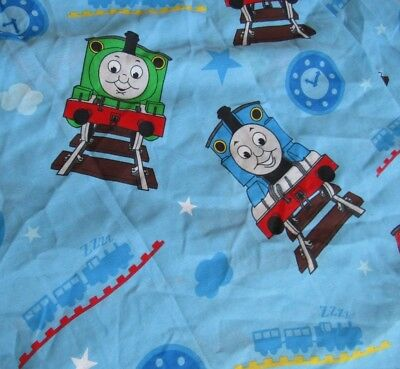 Thomas Amp Friends Twin Size Bed Sheet Flat Fabric Train
