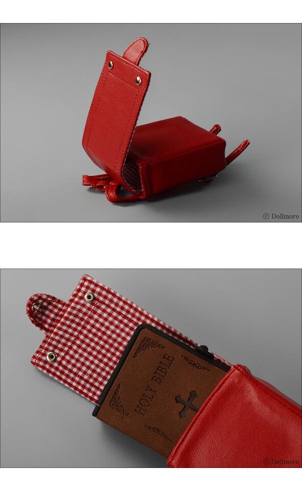 Dollmore 1//4BJD DOLL BAG MSD Red Hibou Ransel