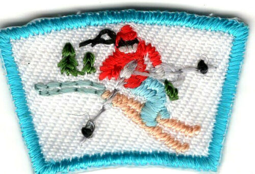 SNOW SKI SEGMENT Iron On Patch Small Scouts Boy Girl Cub Camping