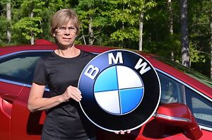 OLD-STYLE-BMW-SERIES-X-M-I3-I8-ROADSTER-CAR-THICK-STEEL-BADGE-SIGN-MADE-IN-USA