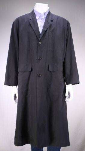 Techno Veste Longue Noir Allegri Trench coat Xxl ~ Soie Zqf1wO