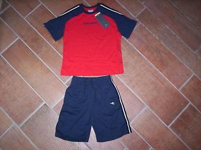 Utile Completo Diadora Bimbo Bambino T-shirt Bermuda Pantaloncini Corti New 10 12 Anni