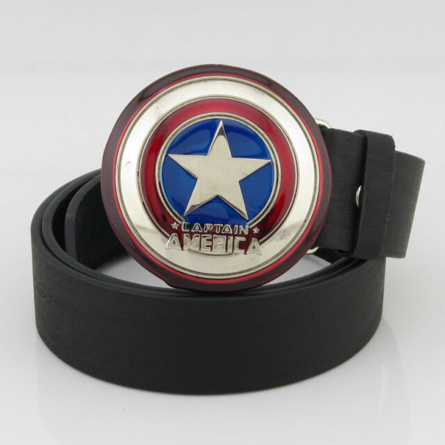 new marvel captain america shield superhero mens metal belt buckle Leather Gift