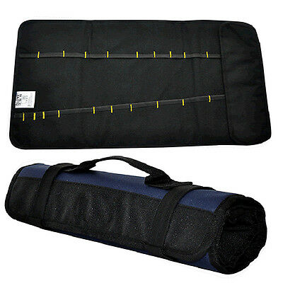 New Multifunctional Canvas Chisel Roll Tool Bag With Carrying Handle 21 Pockets