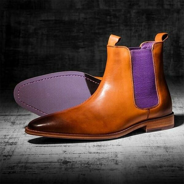 Nuevo Yves y gato gris, zapatos de hombre, botas marróns, talla 10 UK - 246.