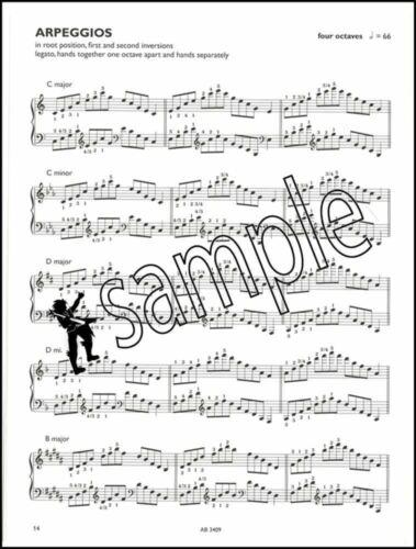 Piano Scales /& Arpeggios ABRSM Grade 8 Exam Music Book