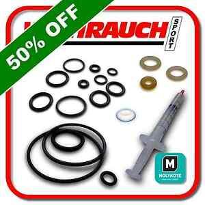 Weihrauch-hw100-poliuretano-PTFE-O-Ring-Guarnizione-Kit-Di-Servizio