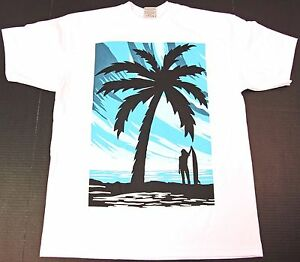 T-Shirt 3D Printed California Palm Silhouette Casual Tees