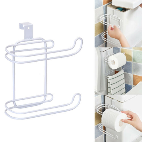 2 Schichten Toilettenpapierhalter WC Papierhalter Bad Papier Hängen Organizer