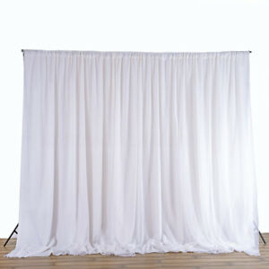 Image Is Loading 2 4m White Wedding Party Backdrop Curtain D