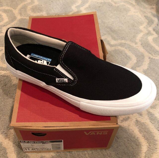 cfe3bf9f29 VANS Slip on Pro (toe Cap) Black white Size 11 for sale online