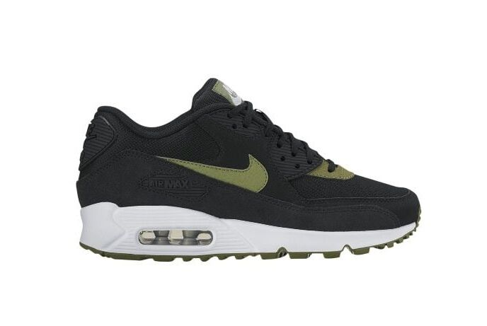 NEW Women's Nike Air Max 90 Shoes Sneakers Size: 6.5 Color: Black/Palm Green
