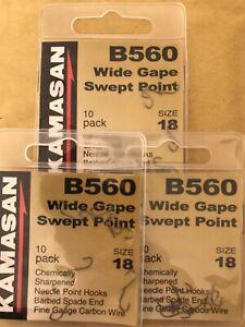 Various Sizes Kamasan B560 Wide Gape Swept Point