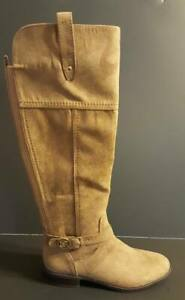 a36dd3c1047 Womens 5M Liz Claiborne Tall Brown Boots Zip Up Wide Calf NEW NWT 5 ...
