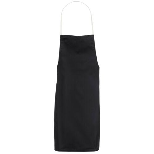 Black Bib Apron Butcher Halter Neck Long Plain Cooking Catering Craft BBQ Chef