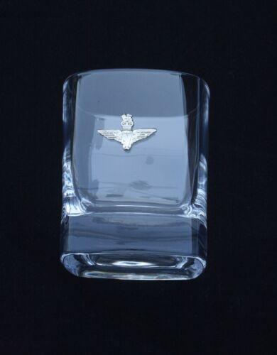 Para Wings Parachute Regiment  Pair Crystal Tumblers Presentation Gift Box BGK29
