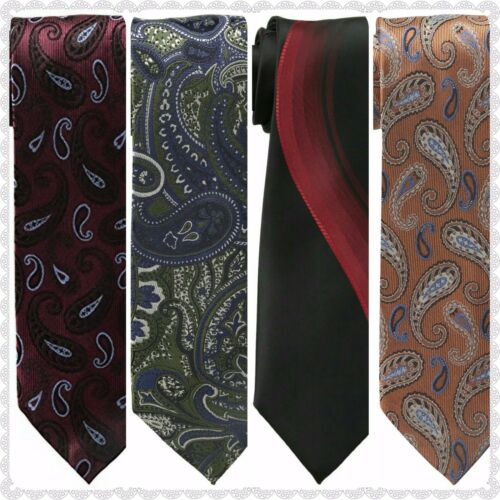 Haggar Men/'s 100/% Silk Printed And Paisley Tie NEW You Pick Your Style
