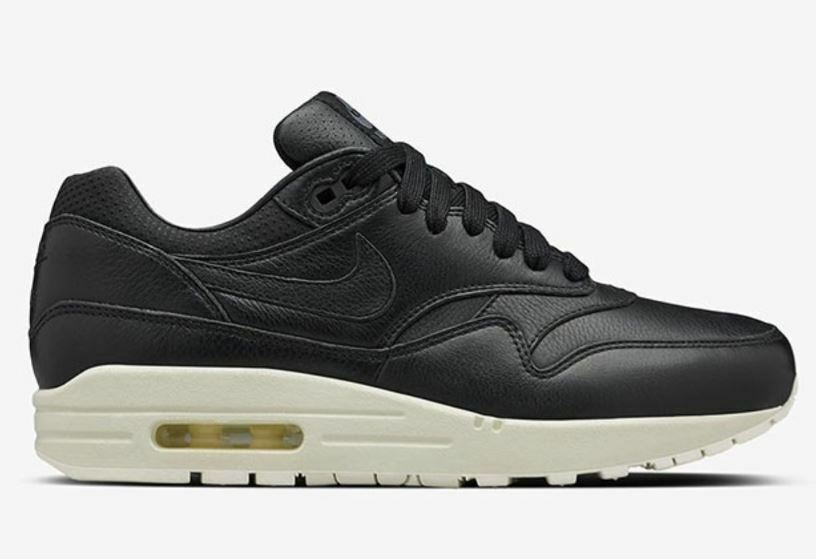Nike Air 1 Max 1 Air Pinnacle Leather Leder 90 95 Gr 35,5 38 schwarz schwarz 839608 003 7cb985
