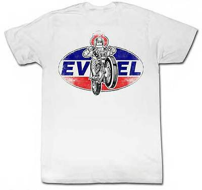 Evel Knievel Motorcycle Daredevil Ameriknievel Riding Wheelie Adult T Shirt