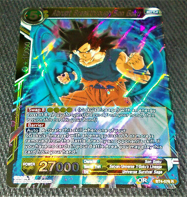 Abrupt Breakthrough Son Goku BT4-076 Holo Foil Card Dragon Ball Super CCG Mint