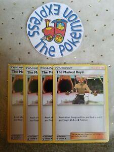 Pokemon-Tcg-4x-The-Masked-Royal-139-168-Mint-Trainer-Celestial-Storm-English